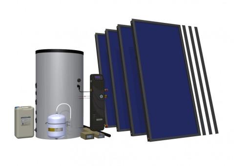 Zestaw solarny do wspomagania c.o. HEWALEX 4 TLP-INTEGRA400