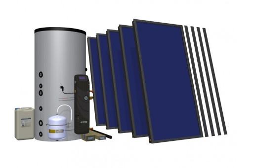 Zestaw solarny do wspomagania c.o. HEWALEX 5 TLPAC-INTEGRA500