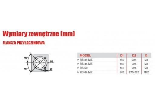 """Palnik gazowy progresywny ze ścieżką 1 1/4"""" Riello RS44 MZTC 550kW"""