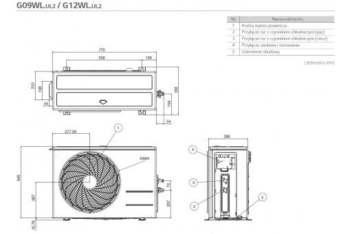 Klimatyzator ścienny LG Artcool Stylist Inverter G12WL - 3,5/3,5 kW