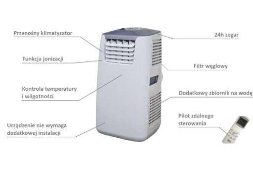 Klimatyzator przenośny Master AC 1000 E - 2,9 kW