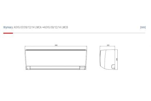 Klimatyzator ścienny Fujitsu Inverter ASYG14LMCA - 4,0/5,0 kW