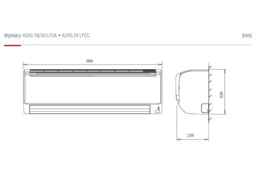 Klimatyzator ścienny Fujitsu Inverter ASYG30LFCA - 8,0/8,8 kW