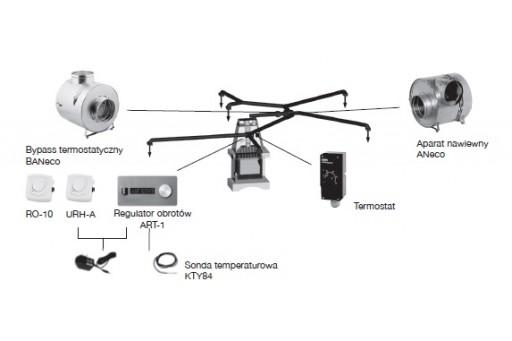 Aparat nawiewny ANeco1 do systemu DGP Darco - 400 m3/h