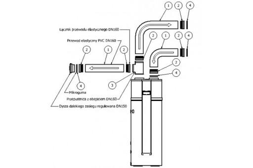 Zestaw wentylacyjny podstawowy do powietrznej pompy ciepła Hewalex
