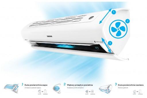 Klimatyzator ścienny SAMSUNG ClassicPlus AR09KSWSBWKNZE  2,5/3,2 kW