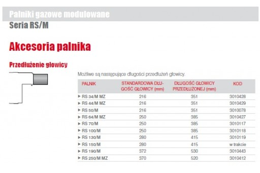 """Palnik gazowy mod. ze ścieżką 1 1/4"""" Riello RS44/M MZ TC 550kW"""