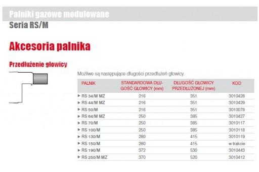 """Palnik gazowy modulowany ze ścieżką 2"""" Riello RS44/M MZ TC 550kW"""