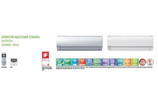 Klimatyzator ścienny Panasonic typu ETHEREA KIT-E15-QKE (biały) - 4,20/5,30 kW