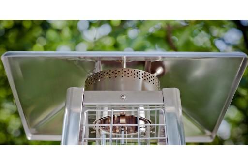 Promiennik ogrodowy (parasol grzewczy) - Ognista Wieża wiklina- 11kW