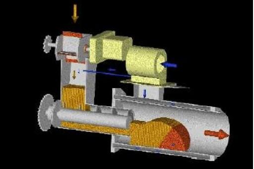 Palnik na owies Bioterm 50, pracujący w zakresie mocy do 63 kW