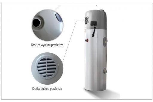 HEWALEX PCWU 200K 1,5kW Powietrzna pompa ciepła do cwu 1 węż 200 l