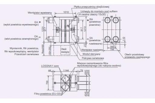 Rekuperator - centrala rekuperacyjna Mitsubishi Lossnay LGH-200RVX-E