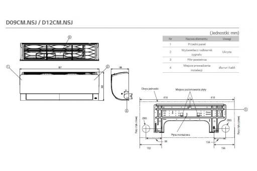 Klimatyzator ścienny LG Deluxe Inverter DM12RP - 3,5/4,0 kW