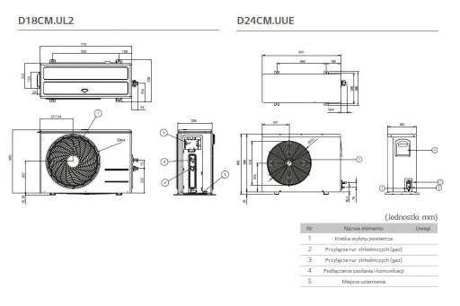 Klimatyzator ścienny LG Deluxe Inverter DM24RP - 6,6/7,5 kW