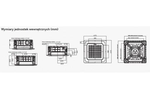Klimatyzator kasetonowy 4-kierunkowy SAMSUNG MINI AC026FBNDEH/EU - 2,6/3,3 kW