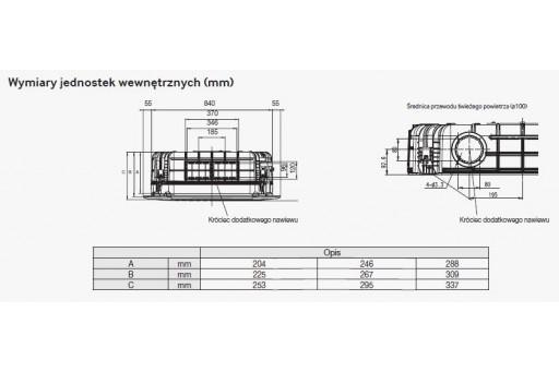 Klimatyzator kasetonowy 4-kierunkowy SAMSUNG STD Deluxe AC0100FB4DEH/EU - 10,0/11,2 kW