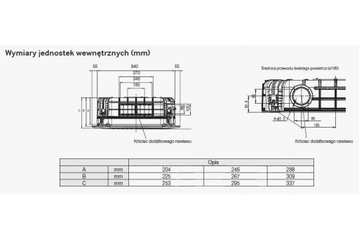 Klimatyzator kasetonowy 4-kierunkowy SAMSUNG STD Deluxe NS1254DXEA - 12,5/14,0 kW