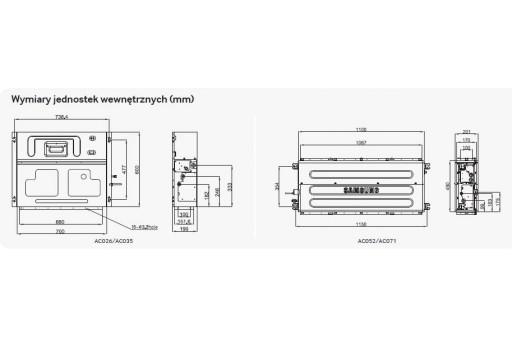 Klimatyzator kanałowy SAMSUNG LSP SlimAC026HBLDKH/EU - 2,6/3,3 kW