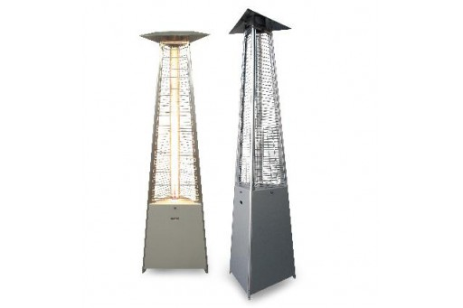 Promiennik ogrodowy (parasol grzewczy) FALO ster. ręczne, inox 12 kW