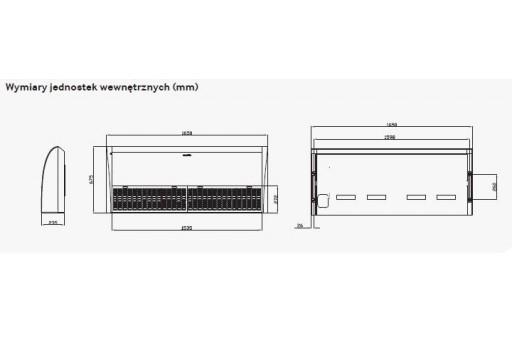 Klimatyzator przysufitowy SAMSUNG AC120JNCDEH - 12,0/13,0 kW