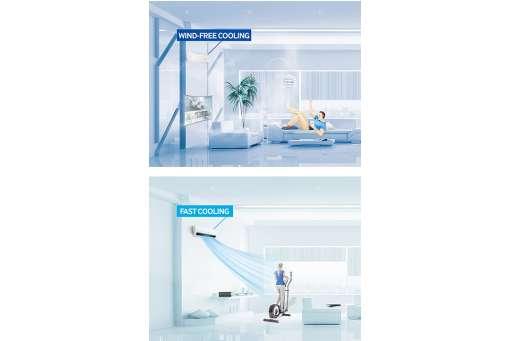 Klimatyzator ścienny marki Samsung Windfree Optimum 2,5 kW AR09NXPXBWKNEU