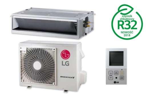 Klimatyzator kanałowy wysokiego sprężu LG Standard Inverter - 5.00kW CM18R.N10