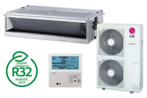 Klimatyzator kanałowy wysokiego sprężu LG Standard Inverter - 13,40kW UM48R.N30