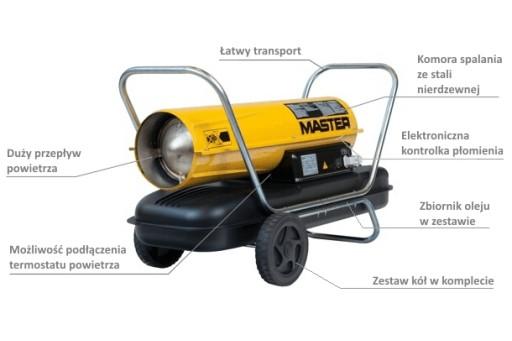 Nagrzewnica olejowa bez odprowadzania spalin Master B 300 CED - 88 kW
