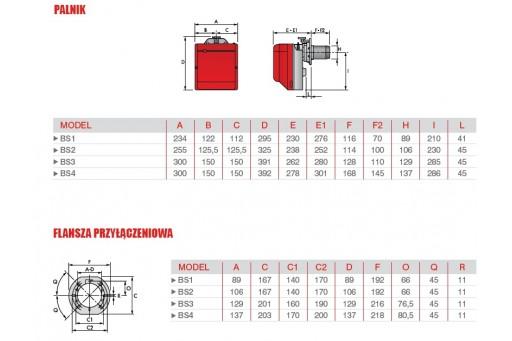 """Palnik gazowy jednostopniowy ze ścieżką 3/4"""" Riello BS3 - 200 kW"""