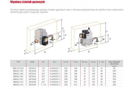 """Palnik gazowy jednostopniowy ze ścieżką 1 1/4"""" Riello BS3 200 kW"""