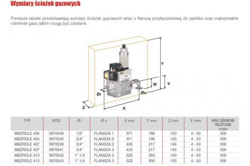 """Palnik gazowy dwustopniowy ze ścieżką 1 1/4"""" Riello BS4 D - 250 kW"""