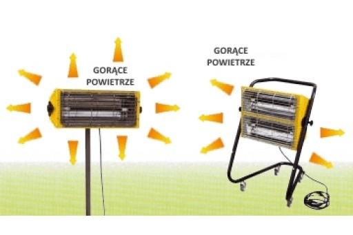 Elektryczny promiennik podczerwieni Master TS 3 A - 2,4 kW