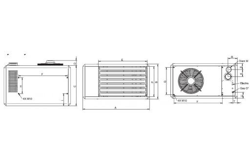 Nagrzewnica gazowa Winterwarm TR 50 - 54 kW