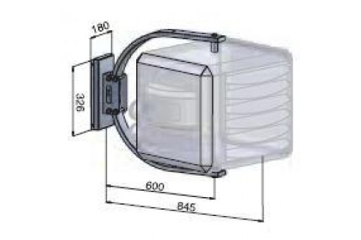 Konsola obrotowa typu-C do nagrzewnic Winterwarm serii XR 10-20-30