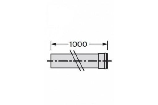 Rura do odprowadzania spalin z nagrzewnic Winterwarm DN 100 dł. 1m