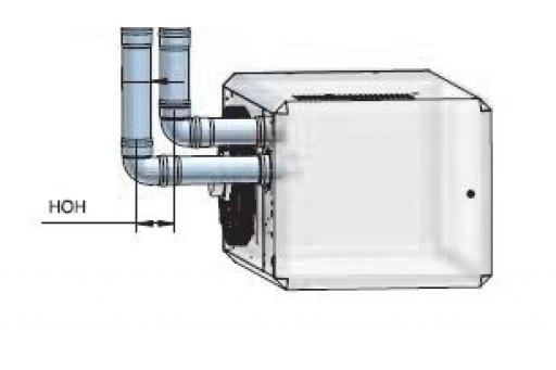 Kolano systemu odprowadzania spalin nagrzewnic Winterwarm DN 100 45st