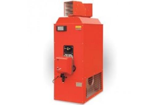 Nadmuchowy piec grzewczy z palnikiem olejowym Araj PGA-50 - 58 kW