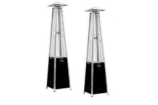 Zestaw 2 Promienników ogrodowych Ognista Czarna Wieża - 11 kW