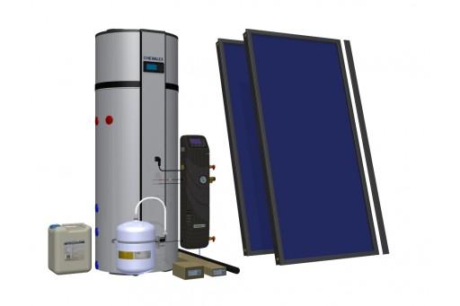 HEWALEX 2 TLPAC PCWU 300SK Zestaw solarny z pompą ciepła do c.w.u.