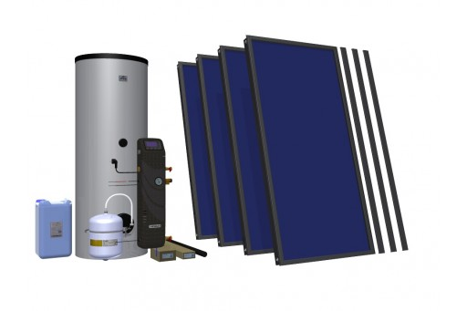 HEWALEX 4 TLPAm 400 Zestaw solarny dla 4-5-6 osób do c.w.u.
