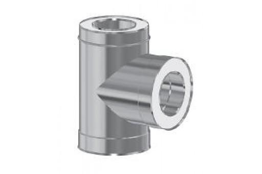 Trójnik dwuścienny izolowany 90st. fi 130/225 mm kominowy
